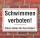 Schild Schwimmen verboten, 3 mm Alu-Verbund
