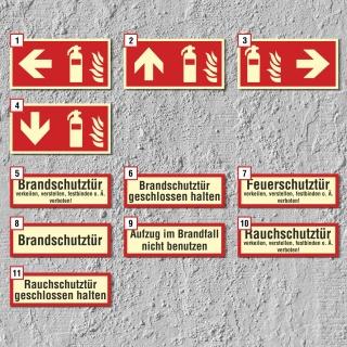 Brandschutzzeichen Feuer Brandschutztür Schild Nachleuchtend ASR A1.3
