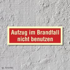 09. Aufzug Brandfall  - Schild 300 x 100 mm