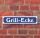 """Schild im Straßenschild-Design """"Grill-Ecke"""" - 3 mm Alu-Verbund - 52 x 11 cm"""