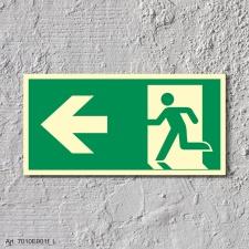 Rettungsweg links  Schild Nachleuchtend  300 x 150 mm