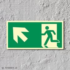 Rettungsweg links aufwärts  Schild Nachleuchtend...