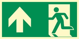 Rettungsweg Geradeaus Notausgang Rettungswegschild Schild Nachleuchtend ASR A1.3