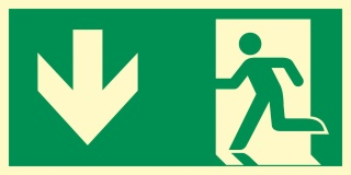 Rettungsweg Richtungspfeil Notausgang Rettungswegschild Schild Nachleuchtend ASR A1.3