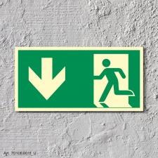 Rettungsweg Richtungspfeil  Schild Nachleuchtend  400 x...