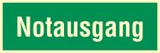 Notausgang Rettungswegschild Schild Nachleuchtend ASR A1.3 - 300x100mm