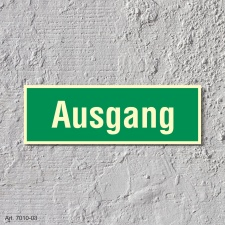 Ausgang Rettungswegschild Schild Nachleuchtend ASR A1.3 -...