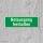 Notausgang freihalten Rettungswegschild Schild Nachleuchtend ASR A1.3 - 300x100mm