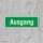 Ausgang Fluchtwegschild Rettungswegschild Aufkleber Nachleuchtend ASR A1.3