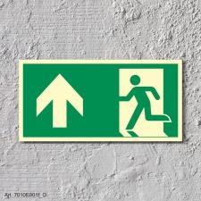 3. Rettungsweg Geradeaus  - Aufkleber 300 x 150 mm