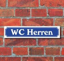 """Schild im Straßenschild-Design """"WC..."""