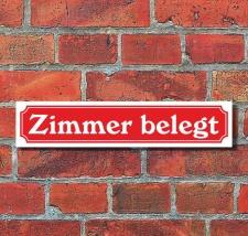 """Schild im Straßenschild-Design """"Zimmer..."""