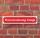 """Schild im Straßenschild-Design """"Ferienwohnung belegt"""", 3 mm Alu-Verbund - 52 x 11 cm"""