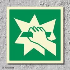 Notausgangsvorrichtung Rettungszeichen Rettungswegschild Schild Nachleuchtend ASR A1.3