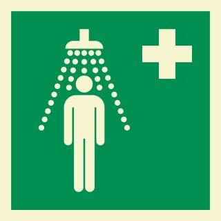 Notdusche Rettungszeichen Rettungswegschild Schild Nachleuchtend ASR A1.3