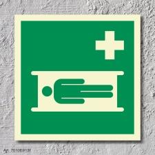 Krankentrage Schild Nachleuchtend ASR A1.3