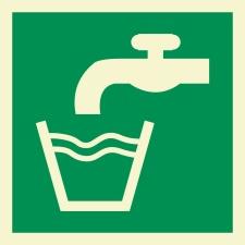 Trinkwasser Schild Nachleuchtend  200 x 200 mm