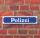 """Schild im Straßenschild-Design """"Polizei"""", blau, 3 mm Alu-Verbund - 52 x 11 cm"""