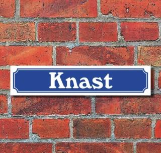 """Schild im Straßenschild-Design """"Knast"""", 3 mm Alu-Verbund - 52 x 11 cm"""