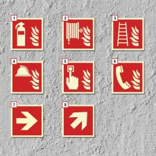 Brandschutzzeichen Feuerlöscher Symbol Schild...