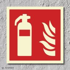 01. Feuerlöscher  - Schild 150 x 150 mm