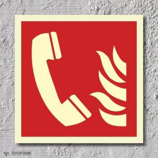 Brandmeldetelefon Brandschutzzeichen Symbol Schild Nachleuchtend ASR A1.3