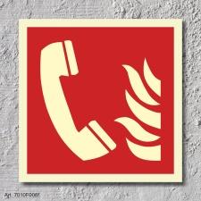 Brandmeldetelefon Brandschutzzeichen Symbol Schild...