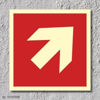 Pfeil 45° Brandschutzzeichen Symbol Schild Nachleuchtend ASR A1.3