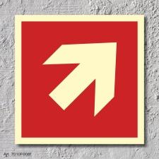 Pfeil 45° Brandschutzzeichen Symbol Schild...