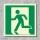 Notausgang links Rettungszeichen Rettungswegschild Aufkleber Nachleuchtend ASR A1.3