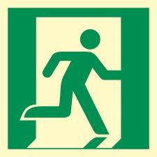 Notausgang rechts Rettungszeichen Rettungswegschild...