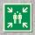Sammelstelle Rettungszeichen Rettungswegschild Aufkleber Nachleuchtend ASR A1.3