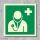 Arzt Rettungszeichen Rettungswegschild Aufkleber Nachleuchtend ASR A1.3