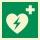 AED Rettungszeichen Rettungswegschild Aufkleber Nachleuchtend ASR A1.3