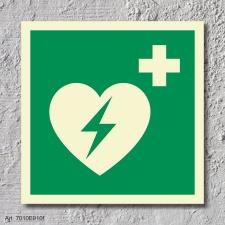 AED  Aufkleber Nachleuchtend  150 x150 mm