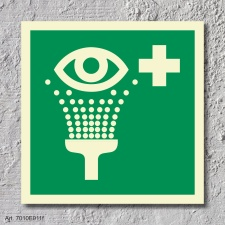 Augenspüleinrichtung  Aufkleber Nachleuchtend  200 x...