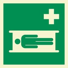 Krankentrage Rettungszeichen Rettungswegschild Aufkleber...
