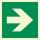 Pfeil 90° Rettungszeichen Rettungswegschild Aufkleber Nachleuchtend ASR A1.3