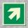 Pfeil 45° Rettungszeichen Rettungswegschild Aufkleber Nachleuchtend ASR A1.3