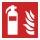 Feuerlöscher Brandschutzzeichen Symbol Aufkleber Nachleuchtend ASR A1.3 150 x 150 mm