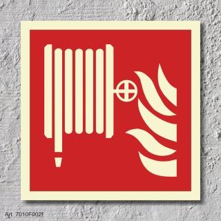 Löschschlauch Brandschutzzeichen Symbol Aufkleber Nachleuchtend ASR A1.3