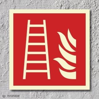 Feuerleiter Brandschutzzeichen Symbol Aufkleber Nachleuchtend ASR A1.3