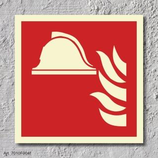 Geräte Brandbekämpfung Brandschutzzeichen Symbol Aufkleber Nachleuchtend ASR A1.3