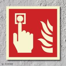 Brandmelder Brandschutzzeichen Symbol Aufkleber...