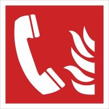 Brandmeldetelefon Brandschutzzeichen Symbol Aufkleber...