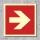 Pfeil 90° Brandschutzzeichen Symbol Aufkleber Nachleuchtend ASR A1.3