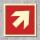 Pfeil 45° Brandschutzzeichen Symbol Aufkleber Nachleuchtend ASR A1.3