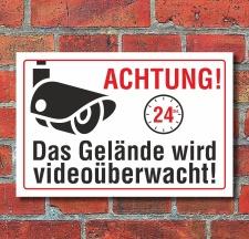 Schild Gelände videoüberwacht...