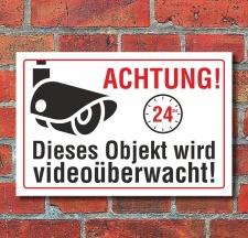 Schild Objekt videoüberwacht Videoüberwachung...