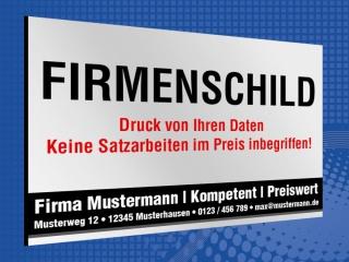 Werbeschild Firmenschild Foto Logo Eigenes Design 3 mm Alu-Verbund